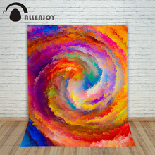 Allenjoy Christmas photography backdrops Colorful clouds swirl art orange background pictures photocall new(China)