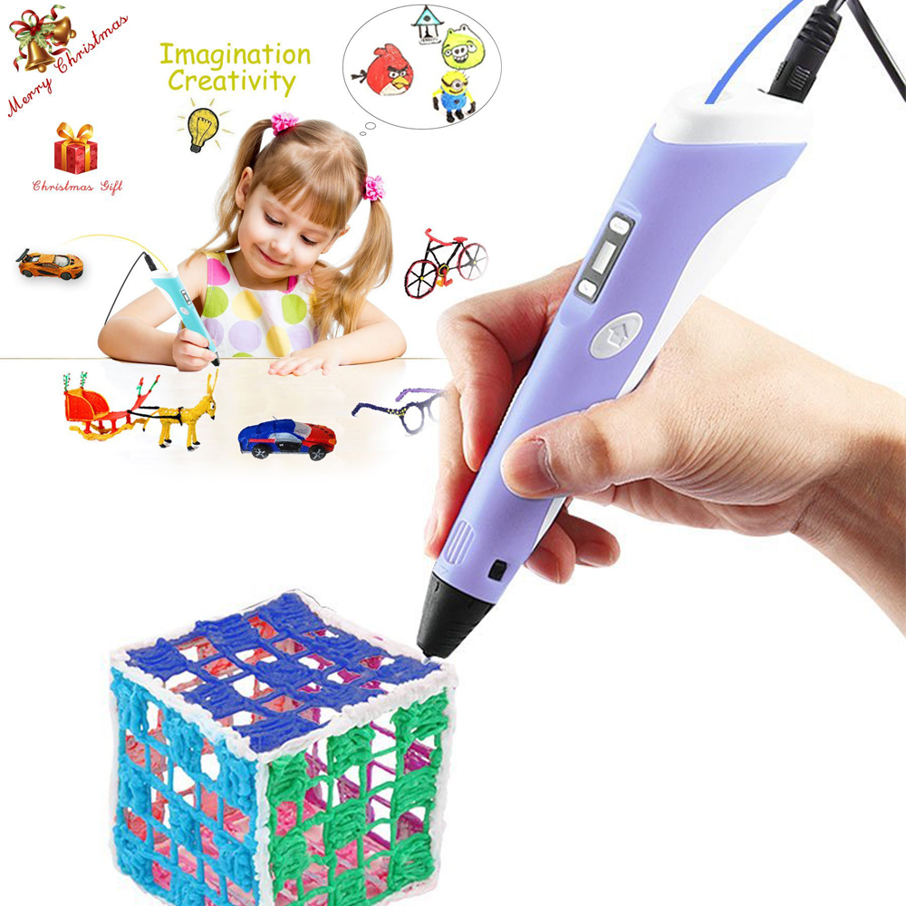 3D Printing Pen Vcall Newest 3D Drawing Pen with LCD Screen Doodle Model Making Arts Crafts Drawing ABS Material Power Supply<br><br>Aliexpress