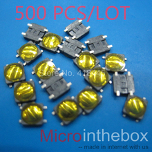 Tact switch Ultra thin mini micro 1000PCS/LOT Membrane switch 4pin smd small size 3x3x0.8 for wearable device watch headset(China)