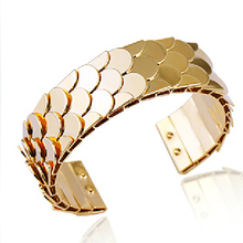 3 Colors Gold Color Metal Cuff Bangle Bracelet for Women Accessories Fashion Brand Jewelry Fashion Punk Rock brta46