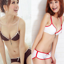 Factory Price! Seamless Women Push Up Lingerie Set Underwear Padded Bra + Knickers Boost 32-36B