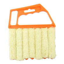 SZS Hot Microfibre Venetian Blind Brush Window Air Conditioner Duster Dirt Clean Cleaner (Orange)(China)