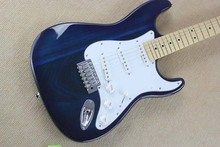 HOT Wholesale top quality  6 string Solid wood body F Stratocaster signature ST navy Blue Electric Guitar ! Free shipping-15-9