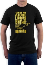 Sleeve Tops T Shirt Homme Leave Me Alone T Shirt Kimi Raikkonen I Know What I'M Doing Lotus F1 Team