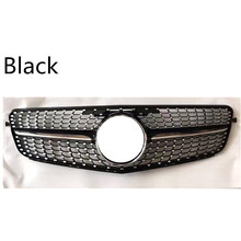suitable for mercedes c-class w204 c180 c200 c300 c250 c350 2008 merc 2008-2014 C63 Diamond grille with center logo(China)