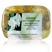 2016 Jasmine Essential oil pure natural handmade soap whitening skin moisturizing The cleansing wash soap Makeup Remover Bathing
