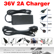 Free Shipping 36V 2A Charger Ouput 42V 2A li-ion charger superior performance electric bicycle lithium battery charger dedicated