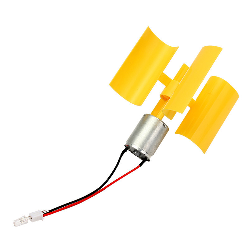 DC Micro Motor Small LED Lights Vertical Axis Wind Turbines Generator Blades Best Promotion(China (Mainland))