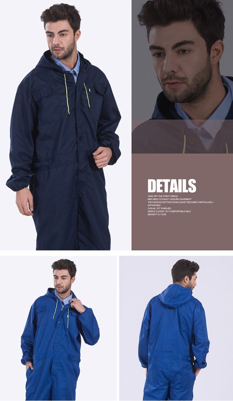 Work clothing Mens coverall repairman jumpsuits trousers working uniforms Workwear coveralls Plus Size long sleevel coveralls 31