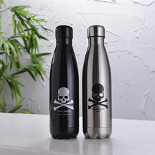 500ml sports water bottle Cycling Camping Bicycle Sports stainless steel vacuum insulation Great for Cold Drinks bottle(China)