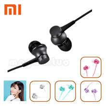 {Promotion price}Newest Original Xiaomi Piston Fresh Earphones In-Ear headset Aluminium Wired Control with Microphone For Phone