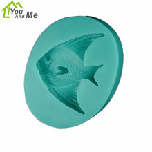 Small Goldfish Shape 3D Silicone Soap Mold Non-Stick Cookware Cake Decorating Fondant Mold 9*6.8*1.5cm(China)