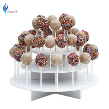 New 1Pcs Assembly Removable 3 Tier White Round Cake Pop Display Stand Lollipop Stand Holder Shelf Cupcake Lollipop Display Stand