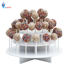 New 1Pcs Assembly Removable 3 Tier White Round Cake Pop Display Stand Lollipop Stand Holder Shelf Cupcake Lollipop Display Stand(China)