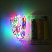 2M 3M 4M 5M 10M 4.5V AA Battery Operated Sliver Wire LED String light Waterproof LED Fairy lights Holiday Christmas Lighting(China)