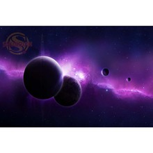 Best Nice Custom Outer Space Wall Poster Home Decor Posters creative mural art Wall Sticker Fashion Modern As a Gift Stickers