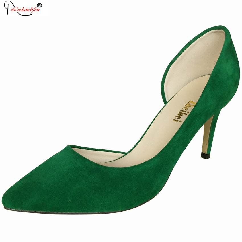 New Fashion Women Pumps Thin Heel Solid Sexy High Heel Shoes Slip-on Pointed Toe Party Simple Shoes Big Size SMYNLK-D0095<br><br>Aliexpress