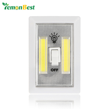 Magnetic Ultra Bright Mini COB LED Wall Light Night Lights Camp Lamp Battery Operated with Switch Magic Tape for Garage Closet