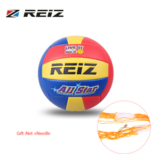 REIZ Soft Touch PU Leather 5# Volleyball Ball Outdoor Indoor Training Competition Standard Volleyball Ball For Students Brand(China)