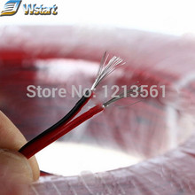20M 2-PIN 24AWG Extension Cable Wire leads Red and Black For Single Color Strip free shipping