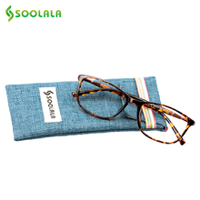 SOOLALA Oversized TR90 Reading Glasses Women Men Full Frame Clear Lens Eyeglasses Frame Ladies Reading Glasses +0.5 0.75 to 4.0(China)