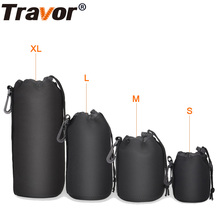 Travor Waterproof Padded Protector Camera Lens Bag Case Pouch for Canon Nikon Pentax Sony Olympus Panasonic Lens size S M L XL(China)