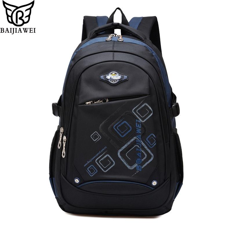 BAIJIAWEI 2017 Children School Bag Alleviate Burdens Backpack Kids Backpack Casual Travel Bags Women Bag Mochila free shipping<br><br>Aliexpress