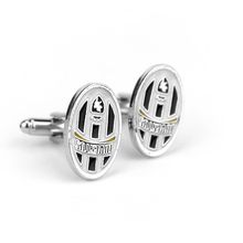 Italy Style Juventus Football Club Logo Cuff Links Top Grade Enamel Silver Cufflinks For Mens Friend Gifts Brand Cuff Buttons