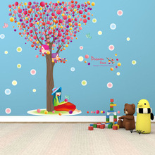 [Fundecor] Dream tree bird girl wall stickers for kids rooms kitchen Bedroom Decoration Toilet Sticker home decor wall art mural