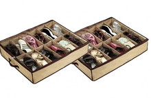 4 x 12 Pair shoes organizer storage Bag Box Under Bed Closet storage bag shoes organizer