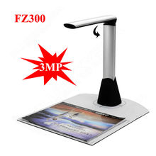 Free shipping!FZ300 HD 1200x1600 Camera Document Scanner For Book Picture A4 Document Scanner USB JPG PDF Visualizer Presenter