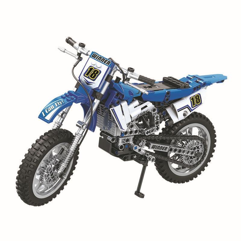 253pcs 2in1 Technic City Moto Cross Bike Building Blocks Compatible 42007 DIY