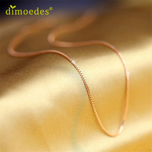 Diomedes Gussy Life wholesale Fine Jewelry Rose Gold Collares Box Chain Necklace For Men & Women Feb9