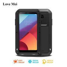 Love Mei Powerful Aluminum Armor Case For LG G6 (5.7 inch) Metal Shockproof Cover Fundas Waterproof Case For LG G6 Coque Shell