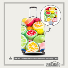 Dispalang Suitcase Cover Fruit Candy Print Spandex Anti-Scratch Elastic Luggage Protective Cover For 18-30 Inch Trolley Case(China)