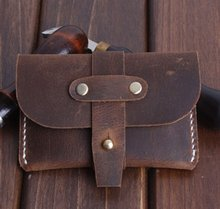 PASSION juneTree brown genuine leather handmade coin pouch Purses wallet style2(China)