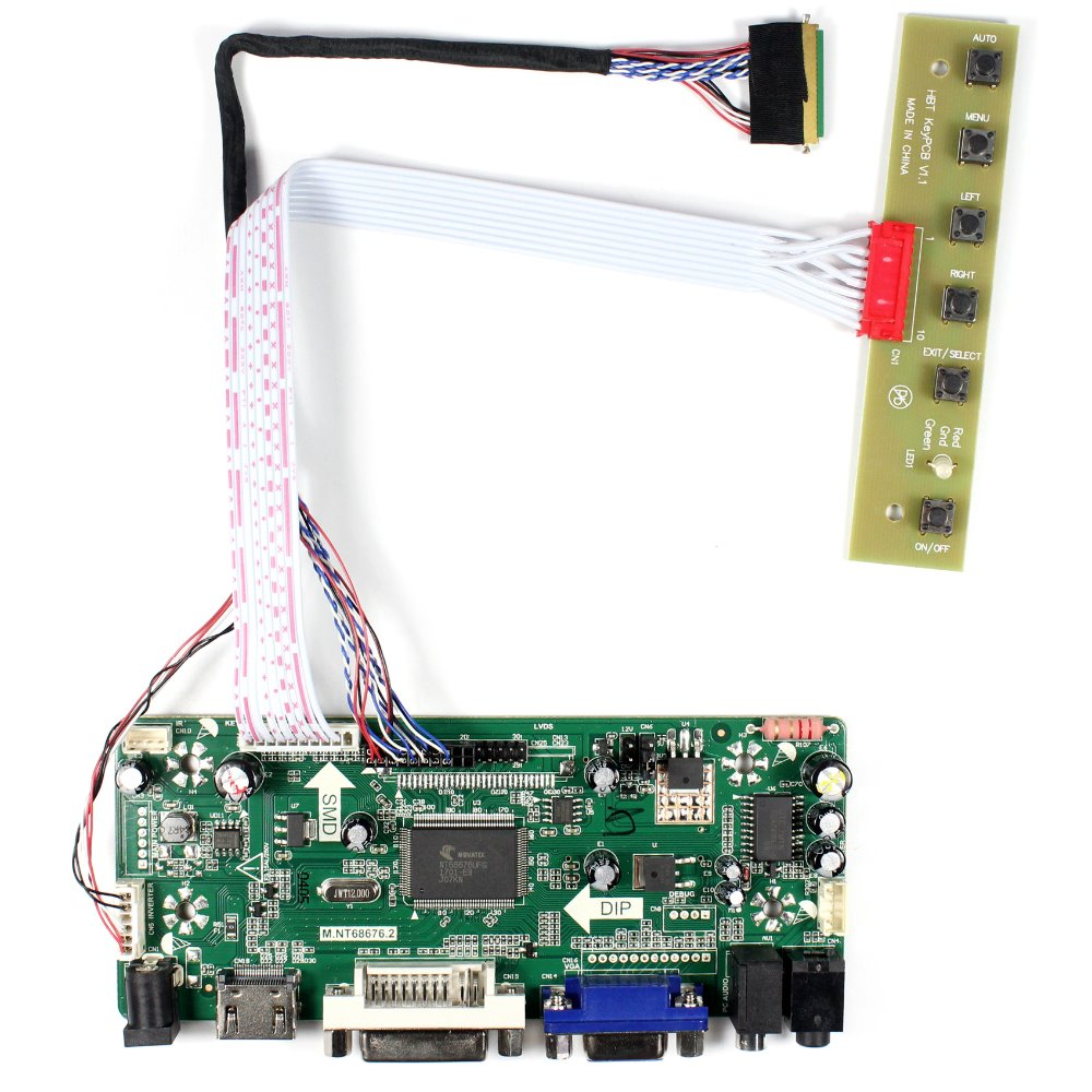 HDMI VGA DVI Audio LCD Controller Board For 14HT140WXB HSD140PHW1 N140B6 B140XW01 1366x768 LCD Screen<br>