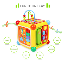 GOODWAY 6 in 1 Play Methods Baby Toys with Piano Music Telephone Gear Function Colorful Around Beads Blocks Safe Educational Toy(China)