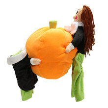 New Arrival Funny Halloween Pumpkin Pet Dog Cat Clothes Carrying Costume Fancy Puppy Apparel Jacket Coat Fleece Pet Supply