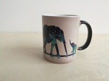 Elephant mugs mom and child Mug coffee cup Lover Gift,Christmas Gift,Cute Coffee Mug ceramic nolvety Tea Cups Home Decor Decal