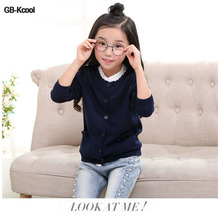 New 2015 Spring Autumn Kids Clothes Good Quality Girls Cardigan Knitted Cotton Sweater Coat ,Girls' Sweaters Sueter Infantil