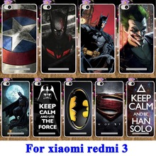 AKABEILA Captain America Batman Soft TPU Hard Cases for Xiaomi Redmi 3 Covers 5.0 Redmi3 Hongmi3 Hongmi 3 Mobile Phone Bag(China)