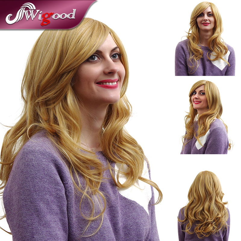 2016 New 65cm Cosplay Wigs Young Long Curly Synthetic Hair Wig Blonde Costume Party Wigs For Women Europe Hair (M18205)<br><br>Aliexpress