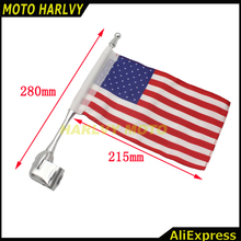 New Chrome Motorcycle Rear Side Mount Flag Pole French Flag For Honda GoldWing GL1800 2001-2011 Luggage Rack