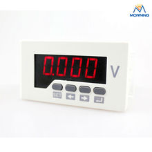 AV51-2O frame size 96*48mm Intelligence Class 0.5 single phase AC digital voltmeter can with 2 relay output(China)