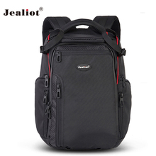 2017 Jealiot Multifunctional Professional Camera Bag laptop waterproof Backpack digital camera Photo Bags for DSLR Free shipping(China)