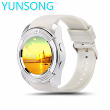 Yunsong gv20 bluetooth smart watch relógio de pulso para apple iphone ios android telefone do relógio inteligente relógio do esporte pk gt08 gv18 a1