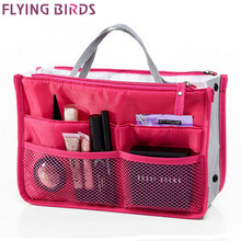 FLYING BIRDS! 2016 Multifunction Makeup Organizer Bag Women Cosmetic Bags toiletry kits FASHION Travel Bags Ladies Bolsas LM2136(China)