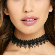 Pameng New Wedding Lace Tassel Necklace Hollow Rhombus Crochet Gothic Choker Necklace for Women