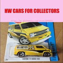 Toy cars Hot Wheels 1:64 Custom 77 Dodge Van Car Models Metal Diecast Cars Collection Kids Toys Vehicle For Children(China)